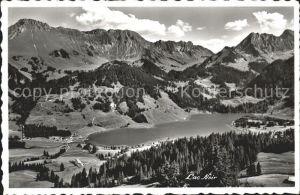 Lac Noir Schwarzsee FR Panorama mit Hotel Gypsera