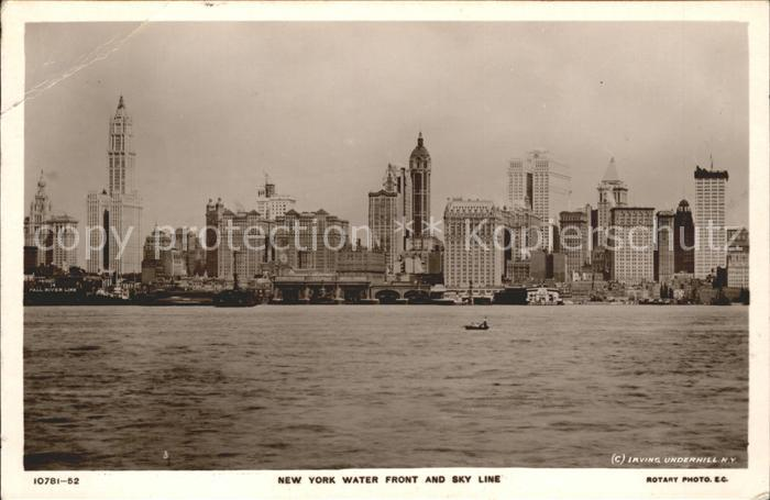 Foto Rotary Nr. 10781 52 New York Water Front Sky Line  Kat. United States