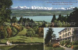 Bielersee Kurhaus Twannberg mit Blick auf See und Alpen / Biel /Bz. Biel City
