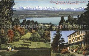 Bielersee Kurhaus Twannberg mit See und Berneralpen / Biel /Bz. Biel City