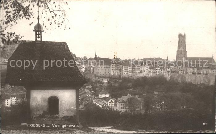 Fribourg FR Vue generale Chapelle Kat. Fribourg FR