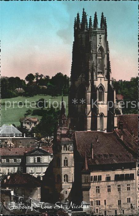 Fribourg FR Tour St Nicolas Kat. Fribourg FR