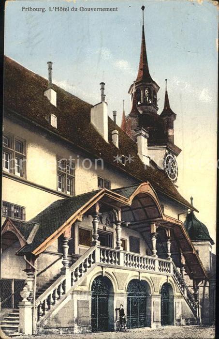 Fribourg FR Hotel de Ville Kat. Fribourg FR
