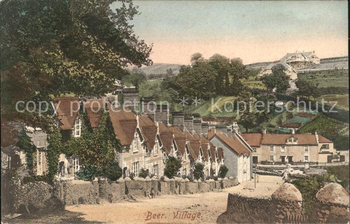 Beer Devon Partial view of the Village Frith s Series