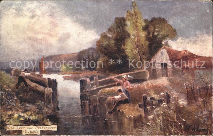 Pulborough Old Lock Tuck Oilette Kuenstlerkarte