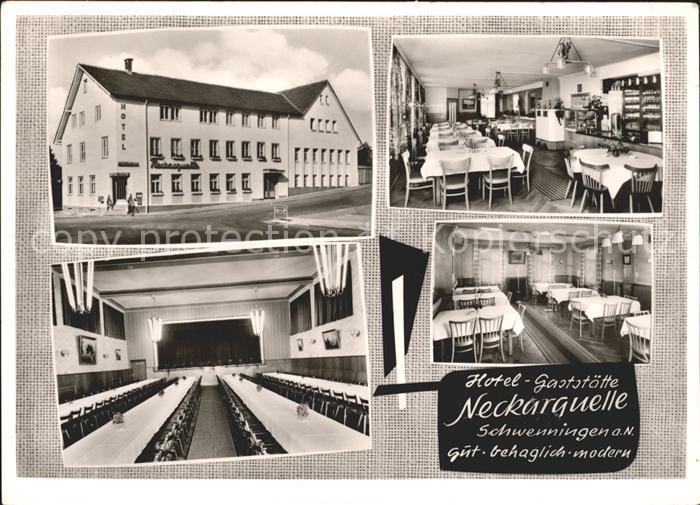 Schwenningen Neckar Hotel Gaststaette Neckarquelle Gastraum Saal / Villingen-Schwenningen /Schwarzwald-Baar-Kreis LKR