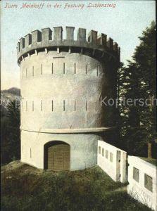 Luziensteig Turm Malakoff in der Festung Luziensteig Kat. St Luzisteig