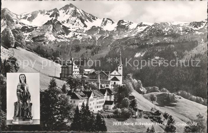 Maria Rickenbach Panorama Kirche Gnadenbild / Niederrickenbach /Bz. Nidwalden