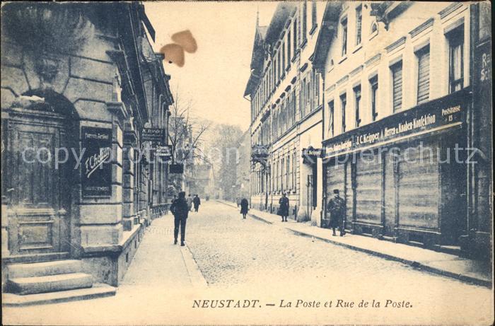 Neustadt Haardt Poste et Rue de la Poste Kat. Neustadt an der Weinstr.