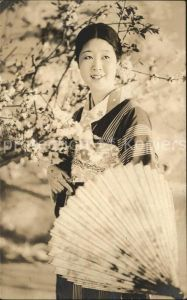 Japan Frau oelpapierschirm Karakasa Kyo Wagasa Schirm  Kat. Japan