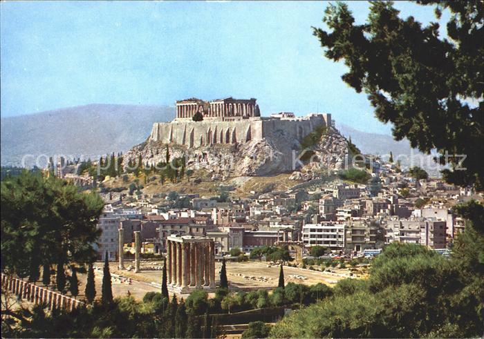 gr griechenland olympia tempel des jupiter nr 185999315 oldthing ansichtskarten europa. Black Bedroom Furniture Sets. Home Design Ideas