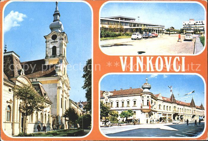 Vinkovci Kirche Strassenpartie Kat. Kroatien