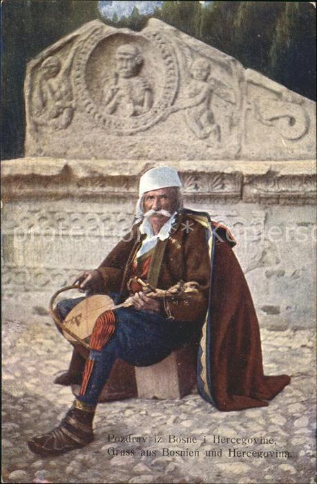 Bosnien Herzegowina Guslar Geigenspieler Kat. Bosnien Herzegowina
