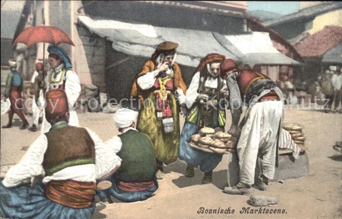 Bosnien Herzegowina Bosnische Marktscene Kat. Bosnien Herzegowina
