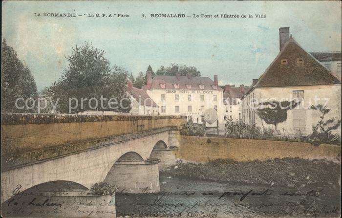 Regmalard Pont et Entree de la Ville