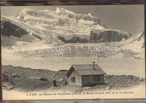 Cabane de Panossiere Grand Combin et les glaciers Kat. Grand Combin