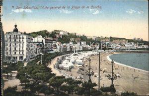 San Sebastian Guipuzcoa Vista general de la Playa de la Concha / Donostia-San Sebastian /Guipuzcoa