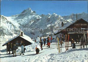 Grindelwald Bergrestaurant First Schreckhoerner und Oberer Gletscher Kat. Grindelwald