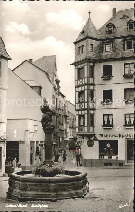 Cochem Mosel Marktplatz Brunnen Kat. Cochem