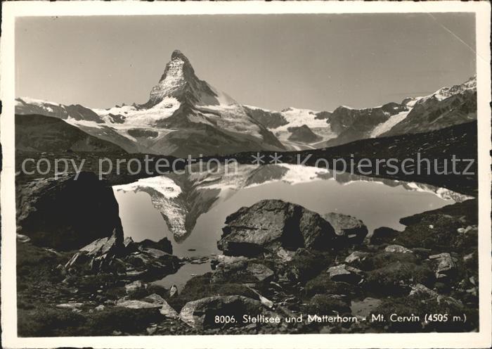 Stellisee Matterhorn Mt Cervin Kat. Zermatt