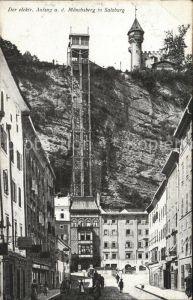 Salzburg Oesterreich Elektrischer Aufzug Moenchsberg  Kat. Salzburg