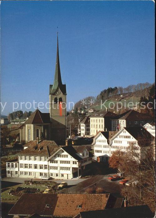 Aargau Kanton Dorfpartie mit Kirche Kat. Aarau