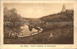 Den Haag Scheveningsche Boschjes Waterpartij Kat. s Gravenhage