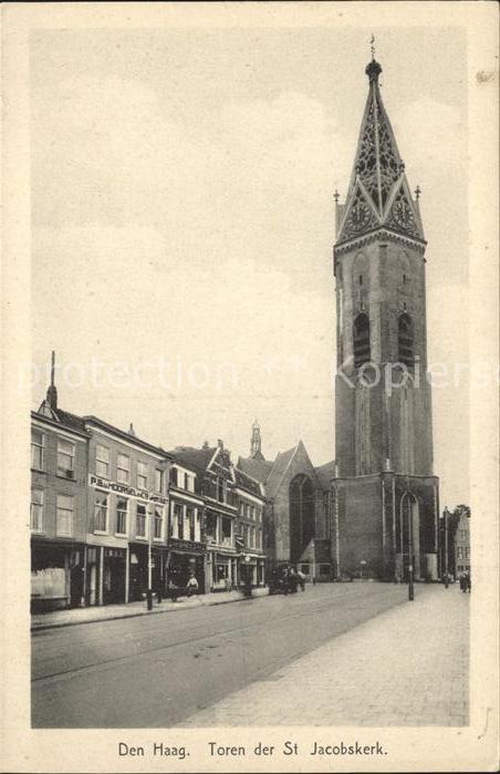 Den Haag Toren St Jacobskerk Kirche Kat. s Gravenhage