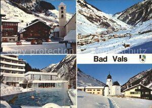Bad Vals GR Dorfplatz Thermalschwimmbad Panorama Vals Camp Kat. Vals