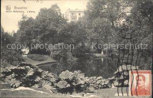 Bruxelles Bruessel Jardin Botanique etang Kat.