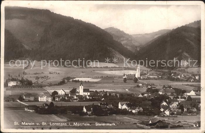 St Marein bei Neumarkt Steiermark St Lorenzen  Kat.