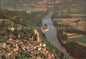 Castelnaud Fayrac Vue generale aerienne Chateau