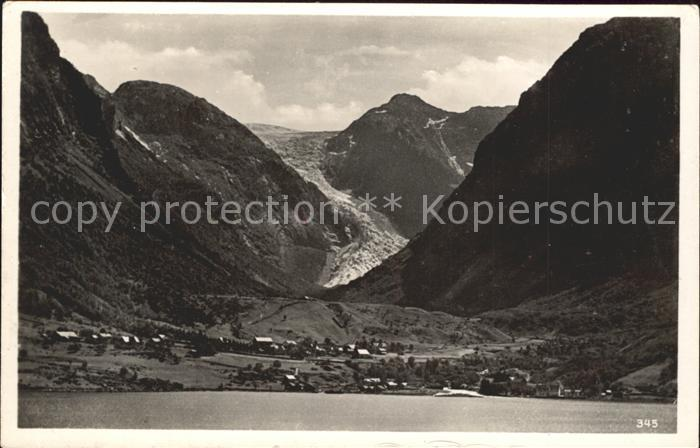 Norge Norwegen Sundalgletscher im Maurangerfjord Kat. Norwegen