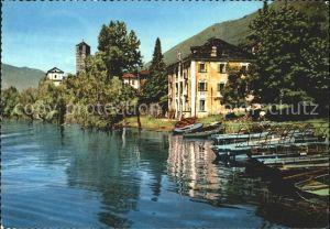 Rivapiana Lago Maggiore Il porto e la Chiesa di S Quirico