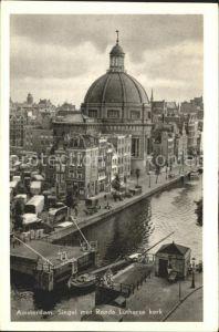Amsterdam Niederlande Singel Ronde Lutherse kerk Kat. Amsterdam