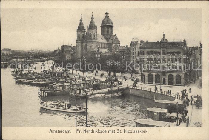 Amsterdam Niederlande Pr Hendrikkade St Nicolaaskerk Kat. Amsterdam