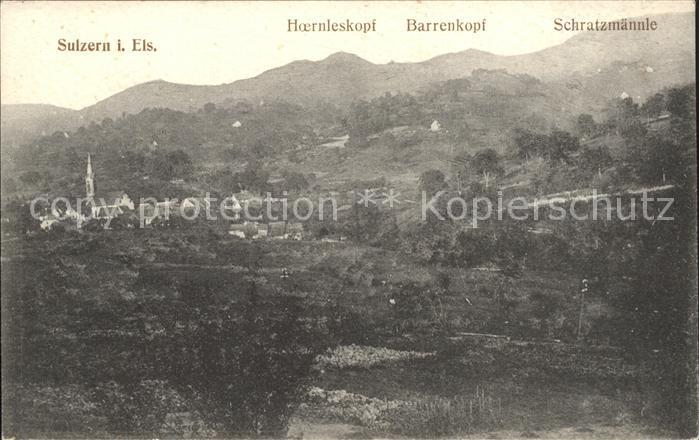 Sulzern Panorama Vogesen Kat. Colmar