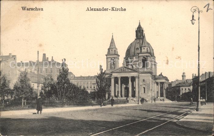 Warszawa Alexander Kirche Kat. Warschau Polen