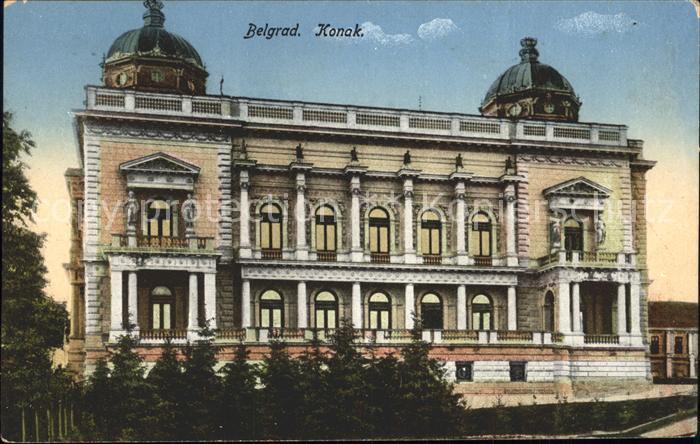 Belgrad Serbien Konak Kat. Serbien