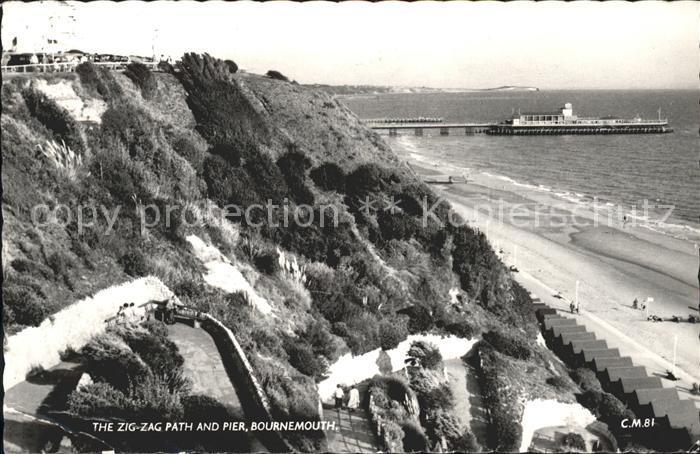 Bournemouth UK Zig Zag Path Pier Kat. Bournemouth