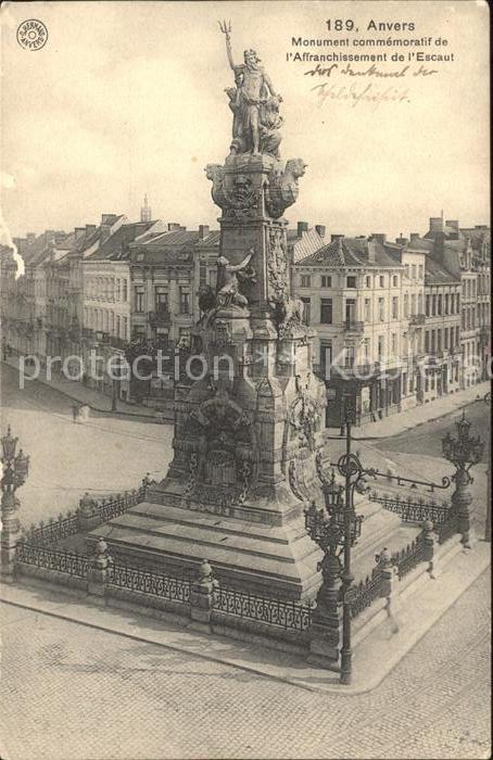 Anvers Antwerpen Monument commemoratif de l Affranchissement de l Escaut Kat.