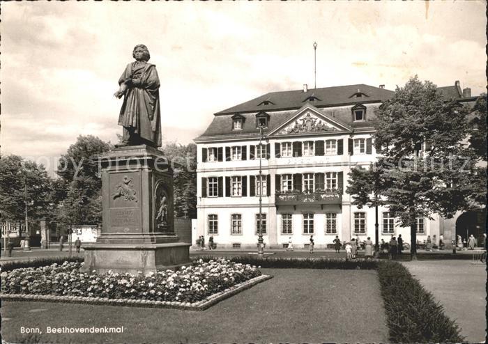 Bonn Rhein Beethovendenkmal / Bonn /Bonn Stadtkreis