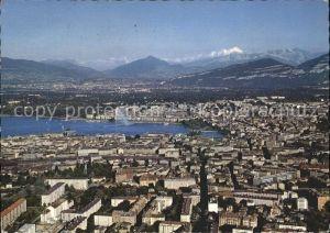 Geneve GE Fliegeraufnahme mit Mont Blanc Kat. Geneve
