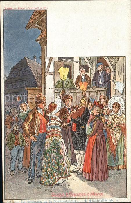 Alsace Elsass Usage et Costumes d Alsace Kuenstlerkarte P. Kauffmann Kat. Epinal