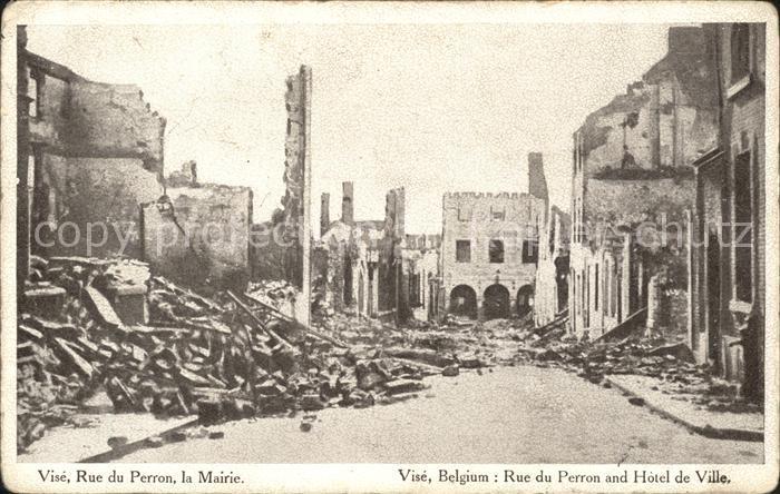 Vise Rue du Perron Mairie Ruines Grande Guerre 1. Weltkrieg Kat.