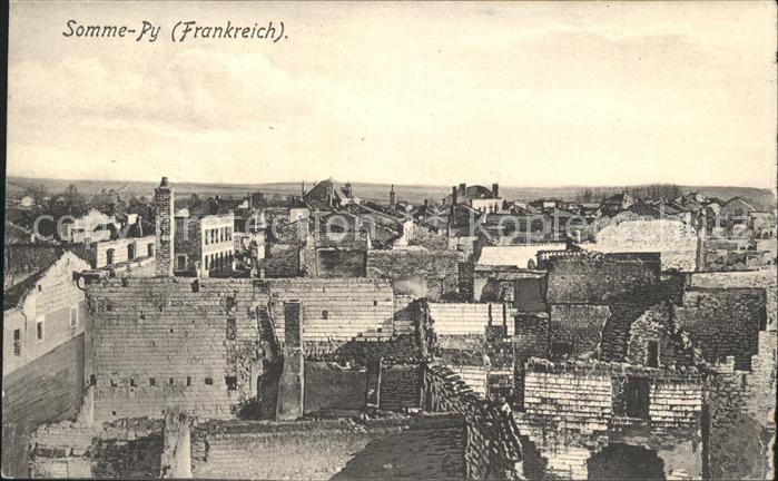 Somme Py Tahure Stadtbild in den Kriegsjahren 1. Weltkrieg Kat. Sommepy Tahure