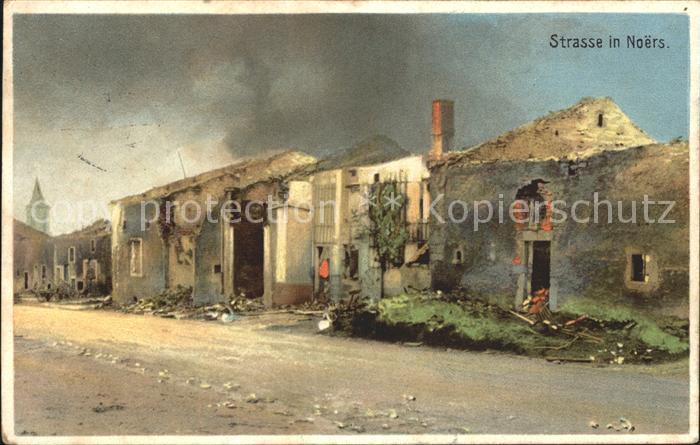 Noers Strassenpartie Ruinen 1. Weltkrieg Grande Guerre Kat. Longuyon
