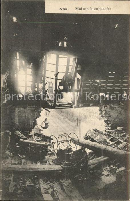 Ans Maison bombardee Ruines Grande Guerre 1. Weltkrieg Kat.