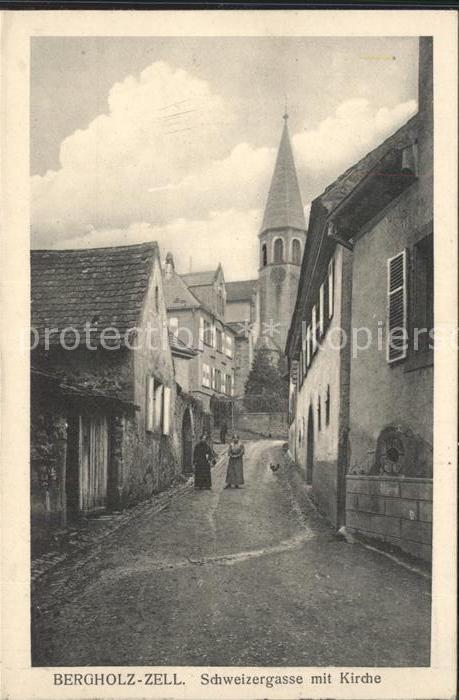 Bergholz Zell Schweizergasse mit Kirche