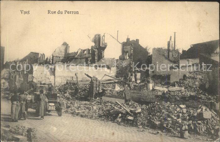 Vise Rue du Perron Ruines Grande Guerre 1. Weltkrieg Kat.